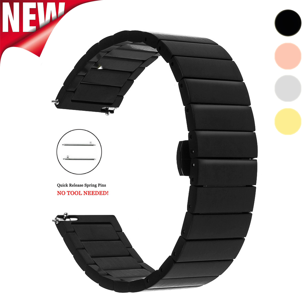 Stainless Steel Watch Band 18mm 20mm 22mm Replacement Smart Watch Link Bracelet for Samsung Gear S2 Classic S3 Frontier ClassicStainless Steel Watch Band 18mm 20mm 22mm Replacement Smart Watch Link Bracelet for Samsung Gear S2 Classic S3 Frontier Classic