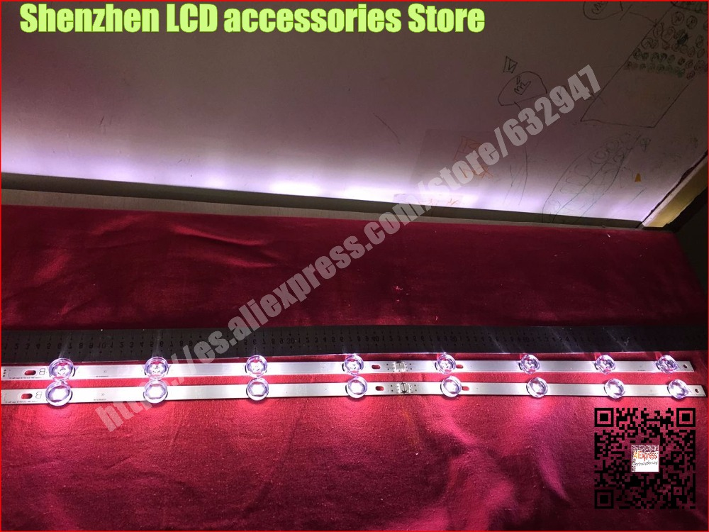 8 Piece/lot  FOR Replacement Backlight Array LED Strip Bar LG 42LB580V 42LB5500 42LF580V 42LB650V   4PCS A+ 4PCS B   100%NEW