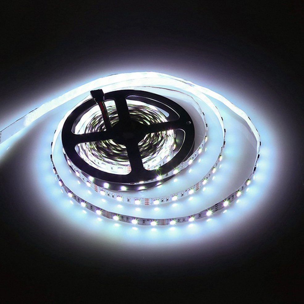 10 PCS White 5M 16ft 5050 SMD Non-Waterproof 300 LEDs Flexible Light LED Sticky Strip 12V 5 16ft 5050 smd rgb 300 светодиоды гибкие легких привели липкие газа 12в огня