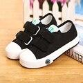 Crianças lona shoes outono crianças cor sólida casual planas sneakers meninos meninas shoes escola de moda ao ar livre formadores tamanho 23-37
