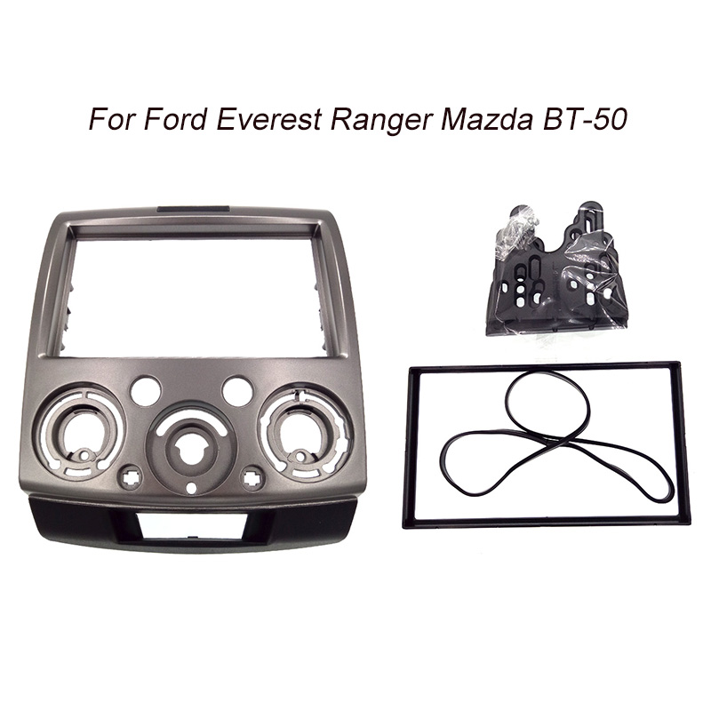 CT CARID For Fordd Everest Ranger Mazda BT 50 BT50 Double Din Facia Radio Dash Stereo