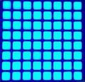 FRETE GRÁTIS 5 PCS x 6mm 8X8 Quadrado Azul LED Dot Matrix Digital Módulo Tubo Ânodo Comum Display LED Módulo 2488BB