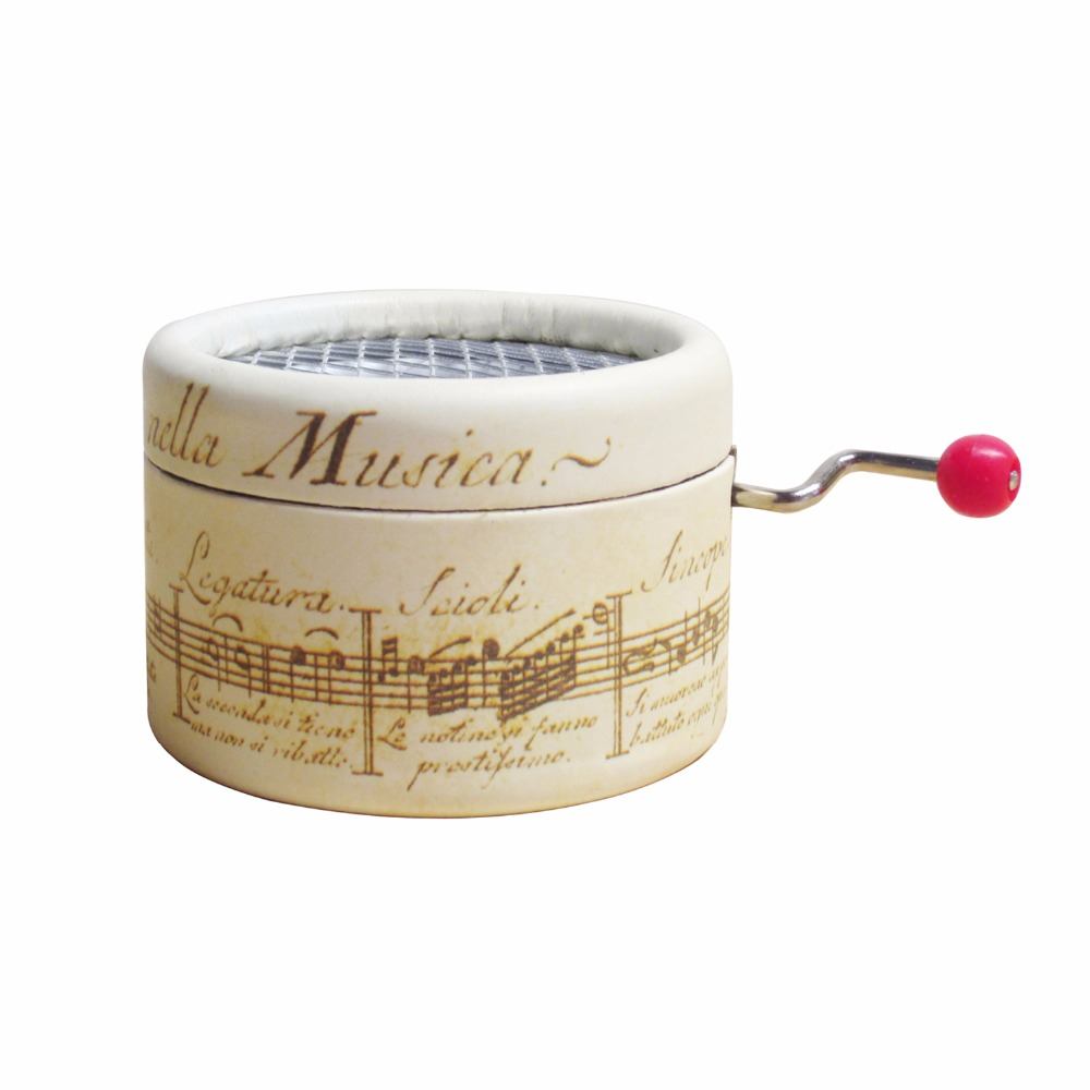 Paper hand crank music box DIY wedding souvenirs gifts old musical ...