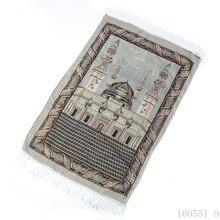 Nouveau Tapis de prière musulman islamique mince en soie dor Tapis de prière Salat Musallah Tapis Tapete Banheiro Tapis de prière islamique