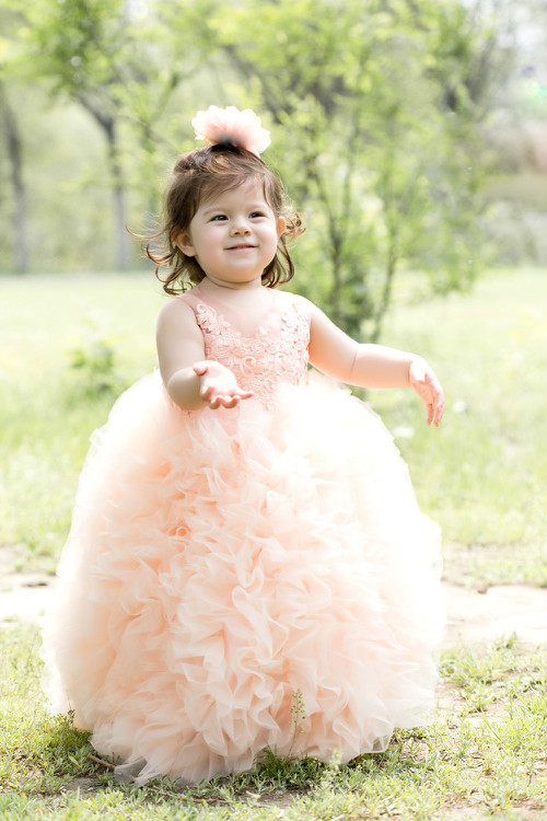 Gorgeous Kids Girl Pageant Dress Ball Gown Embroidery Organza Bead Junior Flower Girl Dresses For Wedding with Tailing 6 colors hot newest fuchsia ball gown organza ruffles flower girl dresses kids pageant dresses vestidos de desfile kids party dresses
