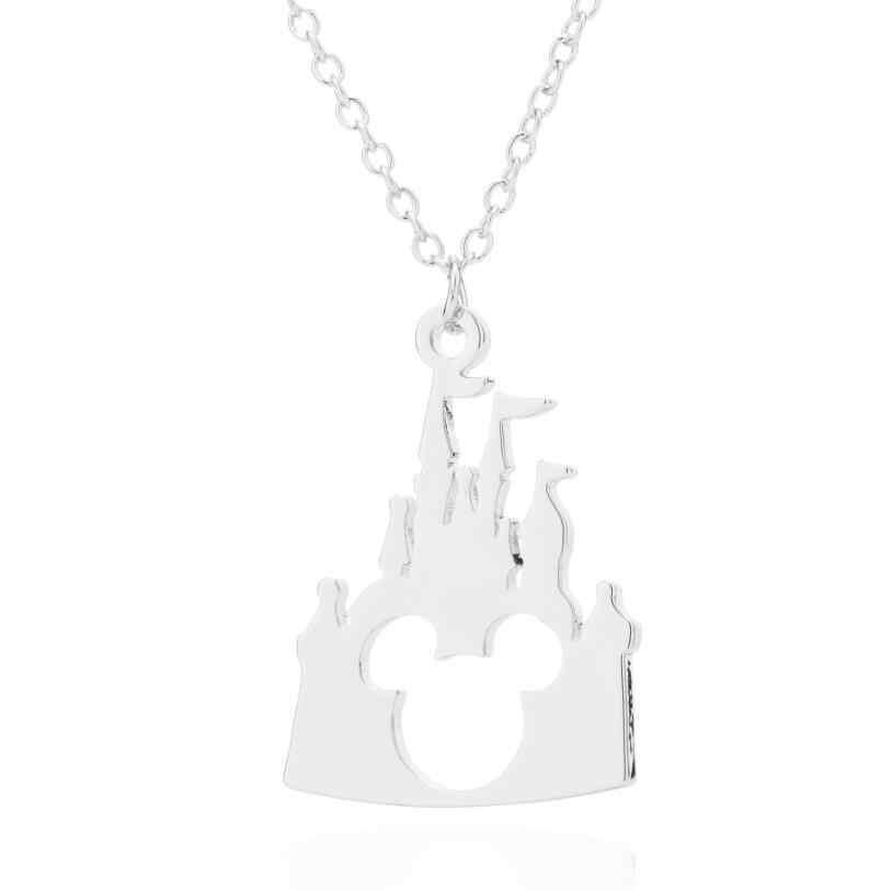 Daisies Boho ปราสาท Mickey หัวจี้สร้อยคอปราสาทสัตว์เครื่องประดับสำหรับสร้อยคอผู้หญิงอุปกรณ์เสริมแฟชั่น