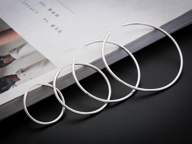 sinya circle ring hoop earring in 925 sterling silver ED0348E (7)