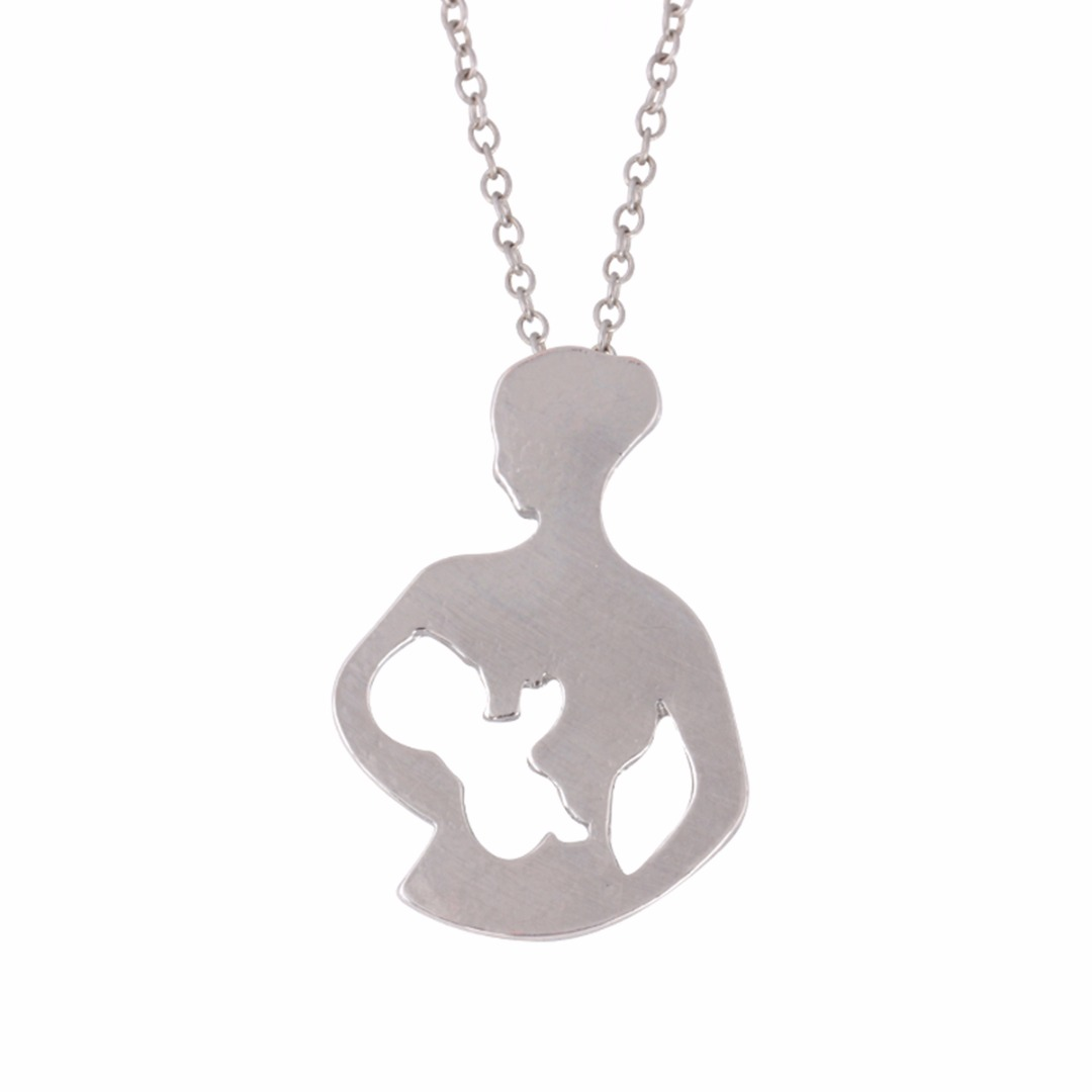 Jewelry & Accessories Mom Loves Baby Hand In Hand Charms Choker Necklace Two Color Link Chain Pendant Necklace Women Mothers Day Gift Jewelry
