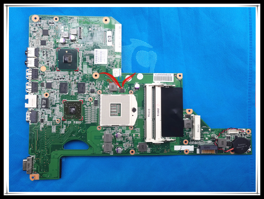 Original system board 615847-001 615848-001 fit for HP G62 CQ62 Laptop Motherboard HM55 chipset 100% Tested working for hp g62 g72 laptop motherboard with graphics 615848 001 01013y000 388 g