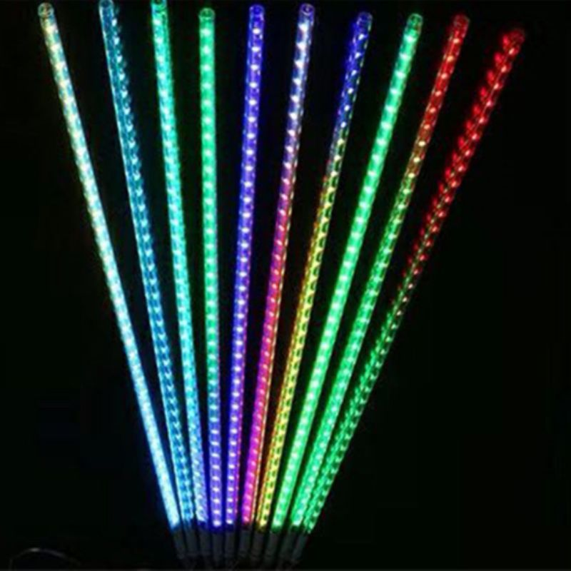 Holiday Lighting Waterproof LED Meteor Shower Light Icicle Snow Rain Falling Outdoor Light with US Standard Power Adapter