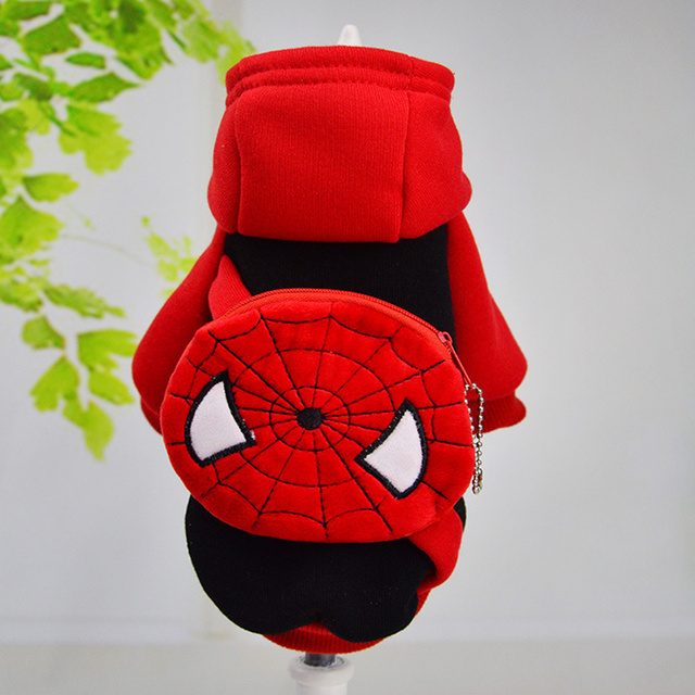 Fashion Spider-Man 10 Styles winter Pet Dog Clothes Clothing for Pet small big larger dog clothes winter Coat Jackets Wholesale