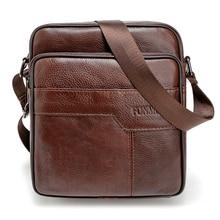 De luxe en cuir véritable Hommes Messenger sacs de haute qualité épaule sac de mode zipper bureau sacs pour hommes