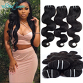7A Peruvian Virgin Hair Extension Body Wave Human Hair Weave Bundles 3Pcs Rosa Hair Products Peruvian Body Wave Ms Lula Hair