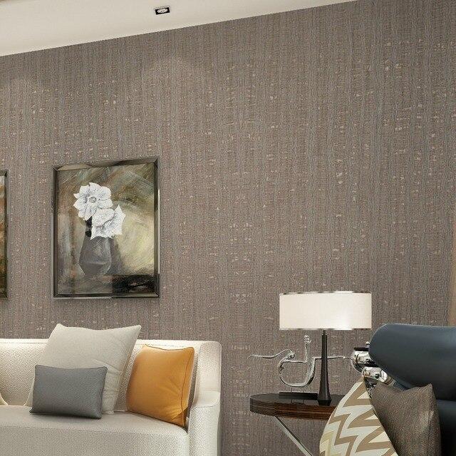 Retro Welle Linie Strukturiertes Metallische Tapete Rollen Solide Farbe Braun  Streifen Wand Papier Für Haushalt,