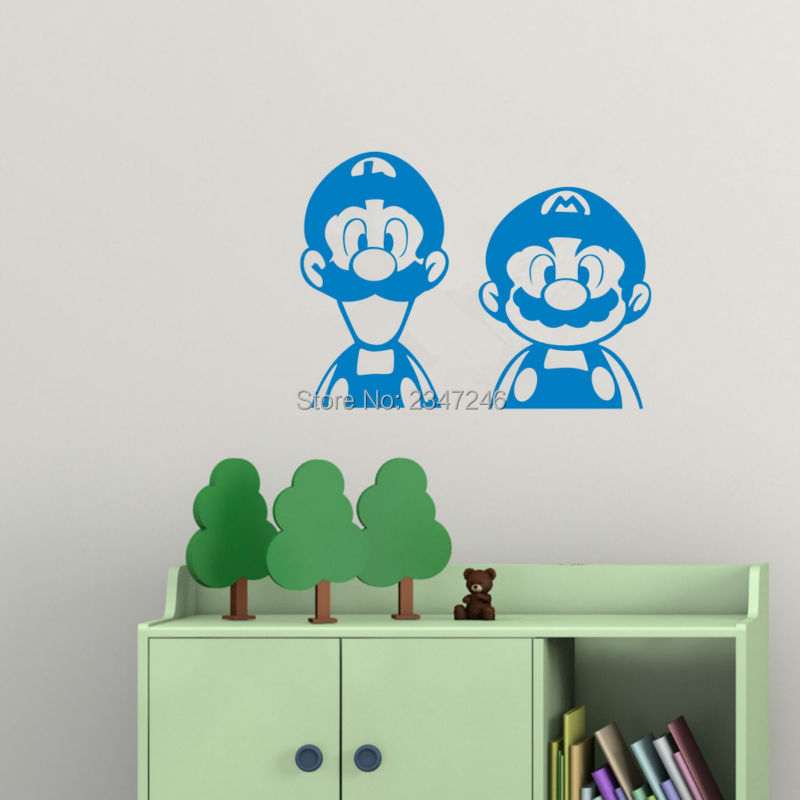 Online Get Cheap Super Mario Bros Wall Decals Aliexpress
