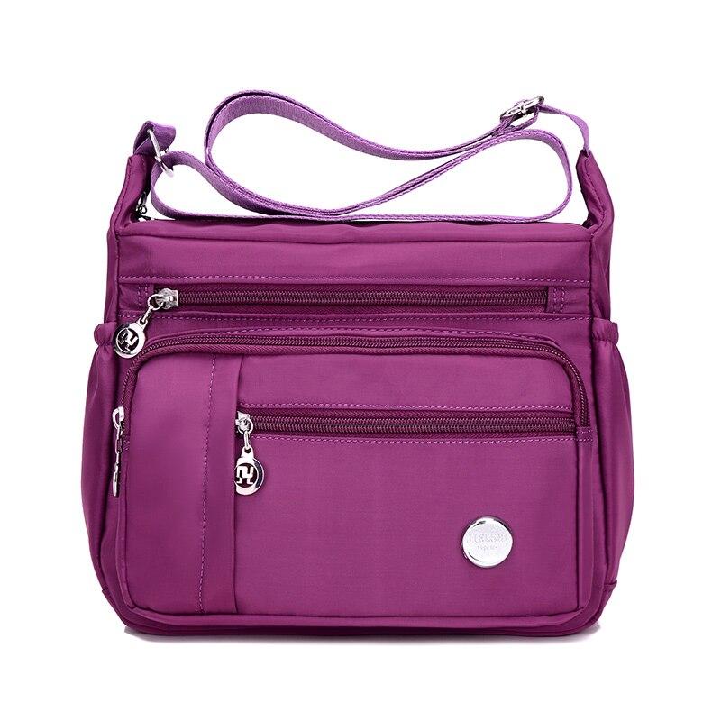 2017 Neue Mode Frauen Nylon Handtasche Marke Rosa Original Tasche Sac Ein Haupt Femme De Marque Schulter Umhängetaschen Wasserdicht Tasche