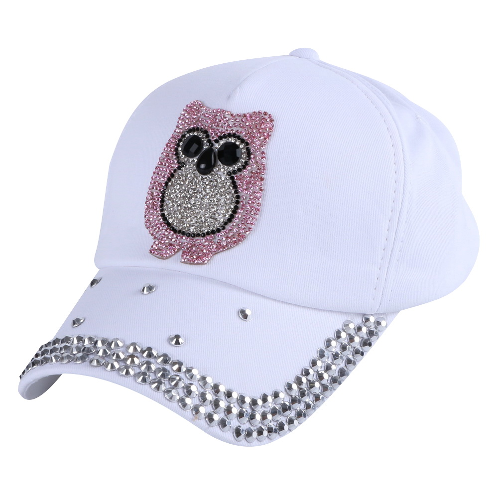 4-12 year old girl boy kid lovely baseball cap outdoor cotton fuchsia owl animal design hip hop children snapback hat brand caps