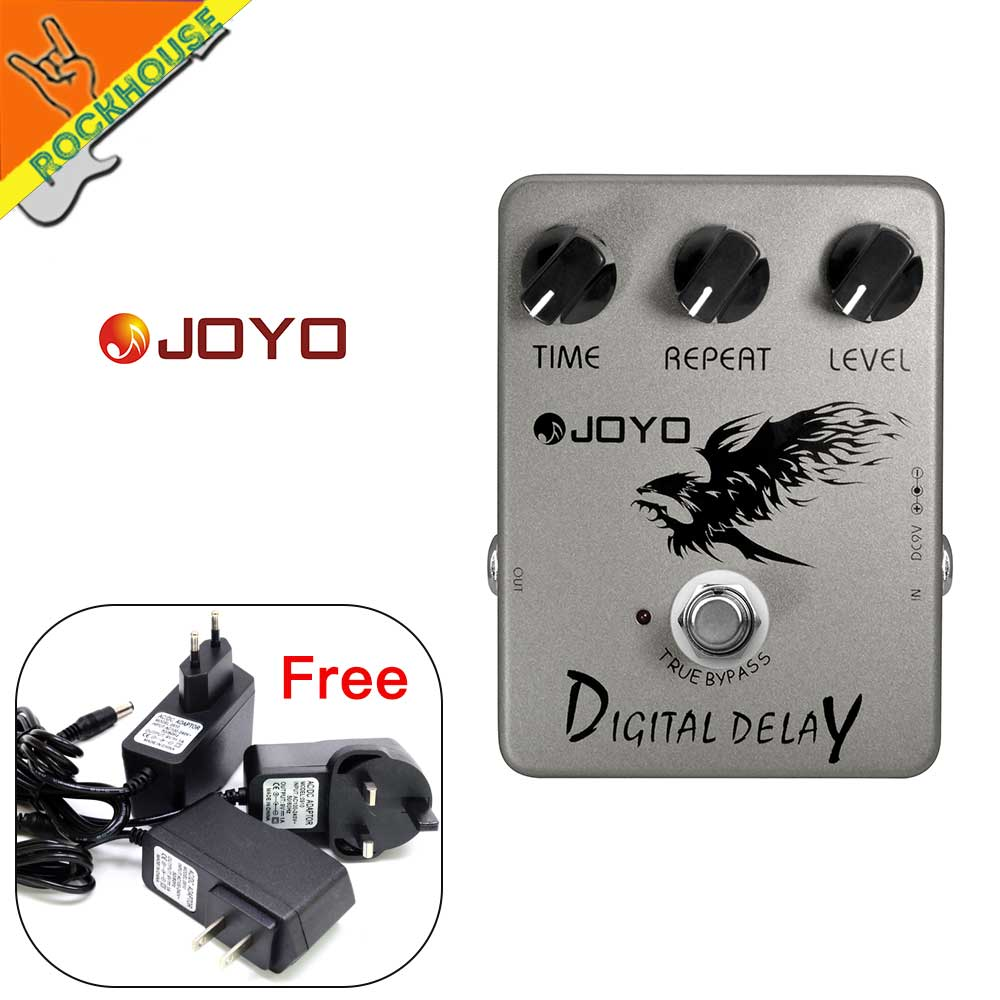 JOYO Digital Delay Guitar Effects Pedal Delay Effects pedal stompbox 600ms delay time warm and glossy True Bypass Free shipping thermex champion er 100v