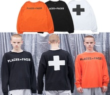 New PLACES+FACES Sweatshirts Men Women 1:1 Streetwear Long Sleeve Crew Neck Full Print Skateboards PLACES+FACES Hoodie