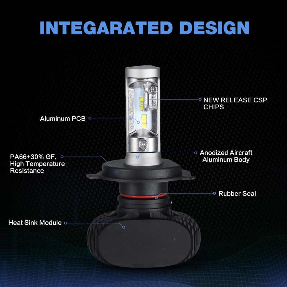 Oslamp S1 H4 H7 H11 9005 9006 Car LED Headlight Bulbs CSP Chips 50W 8000LM 6500K Led Auto Headlamp Led Bulb Car Light 12v 24V
