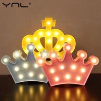 Crown 3D LED Night Light Table Lamp Lovely Flamingo Cactus Star Cloud Christmas Fairy Cartoon Bedroom
