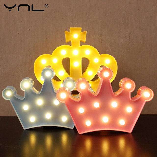 Online shop crown 3d led night light table lamp lovely flamingo crown 3d led night light table lamp lovely flamingo cactus star cloud christmas fairy cartoon bedroom decor kids wall lamp aloadofball Image collections