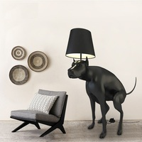 Life Sized Dog Floor Lamp, 130cm Height Polymer Plastic Dog