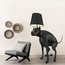 Life Sized Dog Floor Lamp, 130cm Height Polymer Plastic Dog