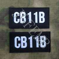 Signe d'appel en tissu de nylon noir personnaliser les Badges de broderie
