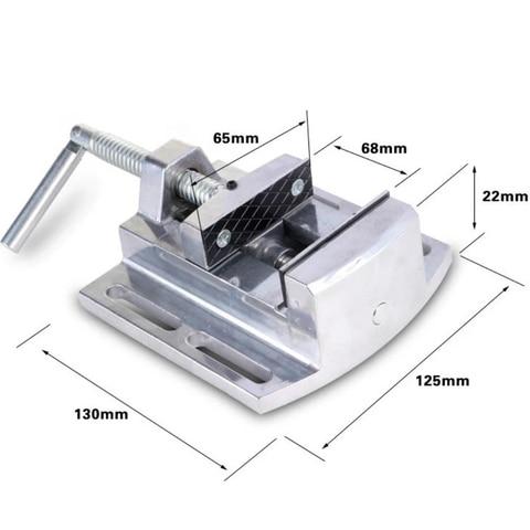 Liga de Alumínio Pinças Planas Vice Fresadora Furadeira Bancada Vise Fixação Worktable Max 68mm 2.5