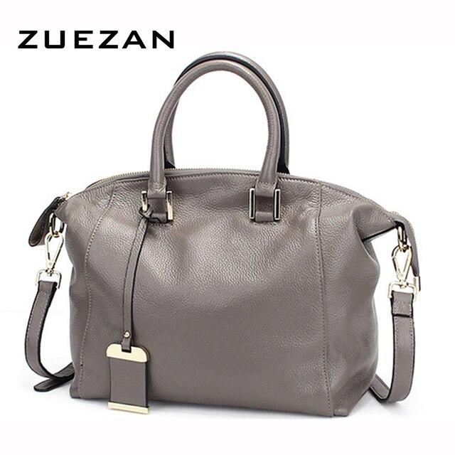 3a6fd47901 5 Colors NEW Brand Boston Stylish Bags Women GENUINE LEATHER Handbag TOP  Layer Shoulder Bag 100% Calfskin Crossbody bags A210