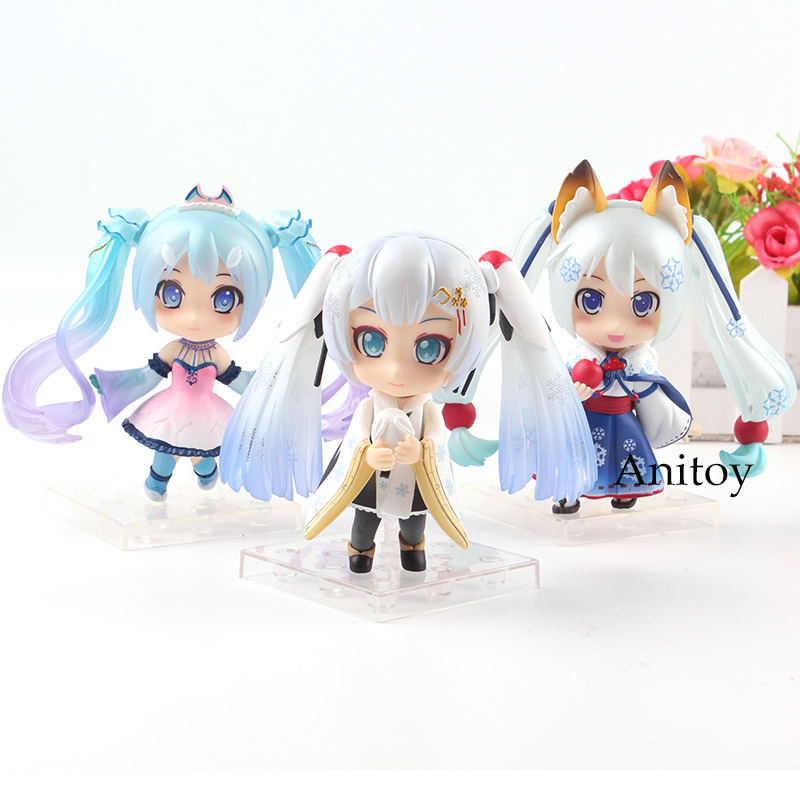 Action & Toy Figures Mid-autumn Moon Cake Hatsune Miku Nendoroid Anime Collectible Action Figure Pvc Toys For Christmas Gift With Retail Box