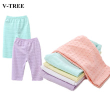 Summer 2019 Girls Pants Candy Color Leggings For Kids Cotton Children Trousers Baby Capris  Baby Cropped Trousers 1-8years