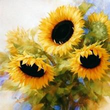 Картина маслом Подсолнух Ван Гог рукоделие, DMC Вышивка крестом, комплект с вышивкой 14CT холст узоры вышивка крестом, сделай сам ручной работы