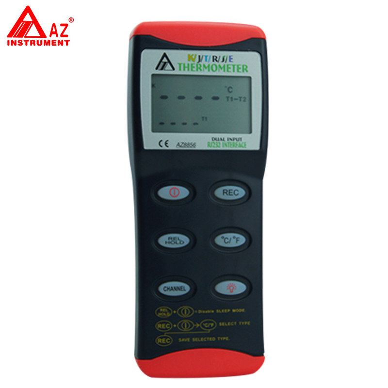 AZ-8856 Digital K/J/T/R/S/E Dual RS232 Thermocouple Thermometer Tester