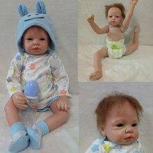 new arrivals soft body silicone reborn baby dolls boys girls 55cm Brinquedos 22inch birthday years gift for children mother