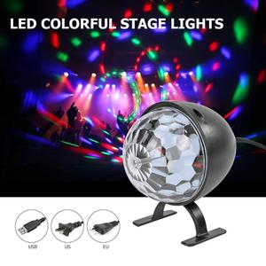 New LED Stage Light Crystal Magic Ball Mini USB US EU Colorful Led Night Light KTV Bar Club Party DJ Disco Effect Lamp