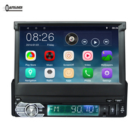 RM CT0008 7 inch 1 Din Retractable Touch Screen Android 6.0 Car Mulltimedia Player Auto Audio With FM Radio Blutooth GPS