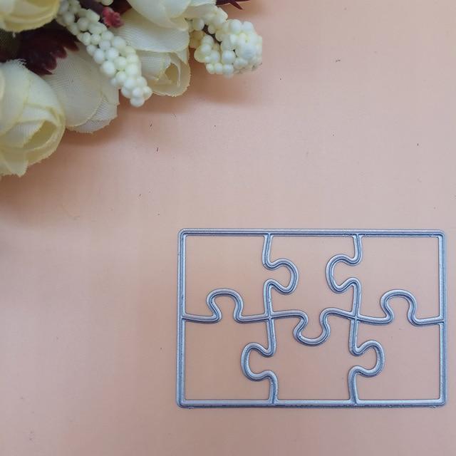 Metal cutting die Rectangle puzzle Jigsaw Cut Dies Stencils For DIY Scrapbooking Card Album Photo Decoration