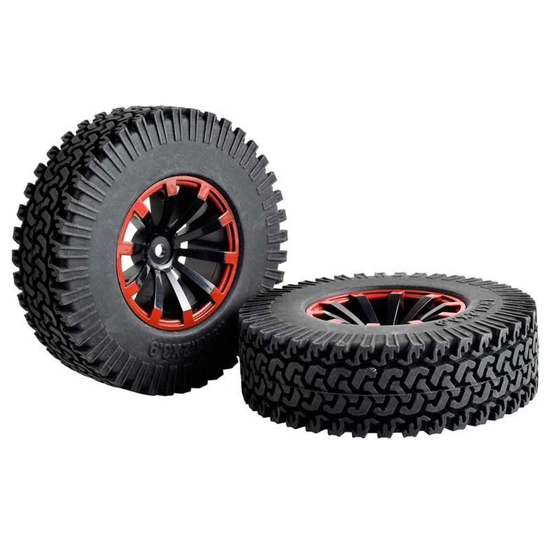2PCS Simulation 1.9 Climbing Tire 98mm Diameter Black Rubber Wheel Tires for Rock Crawler RC4wd D90 Tamiya CC01 RC Car Parts