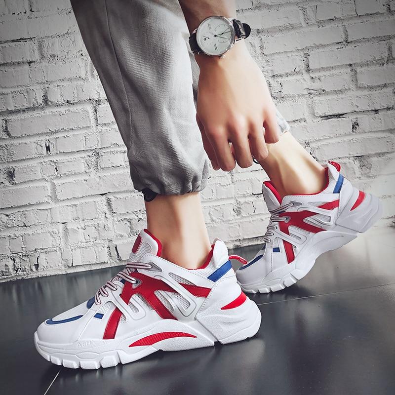 Dos Versão Selvagens black Coreana Orange Esportes Red Masculinos Respirável Tendência Grey Homens Viagem Sapatos white White De Nova 2019 Casuais Personalidade Da 75wUzAzq