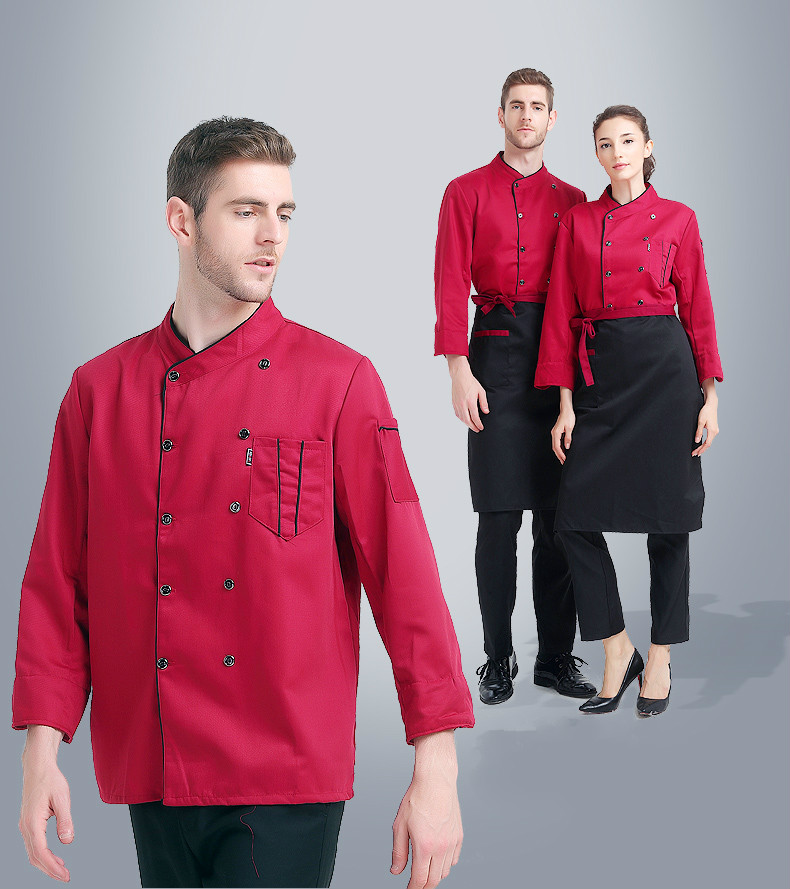 Chef Clothes Breathable Double Breasted Chef's Work Clothes Restaurants Kitchens Barbecue Shops Chef Uniform Cooking Jacket