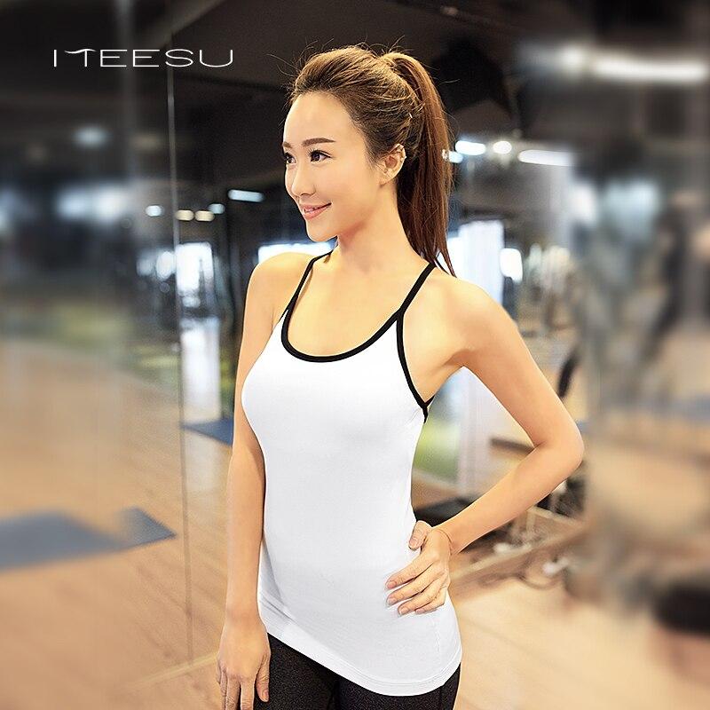 Femmes maillots de yoga Gilet hauts sans manche Respirant Sport T Chemises Séchage rapide Gym gilet de course à pied Réservoir hauts Séance D'entraînement Femelle