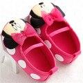 2017 Bebê Recém-nascido Meninas Doce Bonito Mary Jane Sapatos Prewalker Crianças Princesa Dos Desenhos Animados Minnie Mouse Crianças Sapatos Macios Sapatos de Fundo