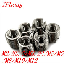 M2 M2.5 M3 M4 M5 M6 M8 M10 M12  Self Tapping insert stainless steel Screw Bushing 302 slotted type Wire Thread Repair Insert
