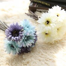 artificial flowers silk daisy artificial gerber daisy for home decoration artificial daisy for wedding decoration 8Colors Silk African Daisy Gerbera Artificial Flower Bridal Bouquet DIY Wedding Decoration Home Party Fake Flowers