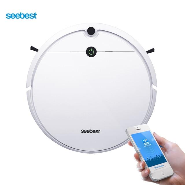 Seebest D752 Wi Fi приложение управление робот пылесосы для автомобиля с мокрой уборки и гироскоп планируется чистый маршрут, расписание