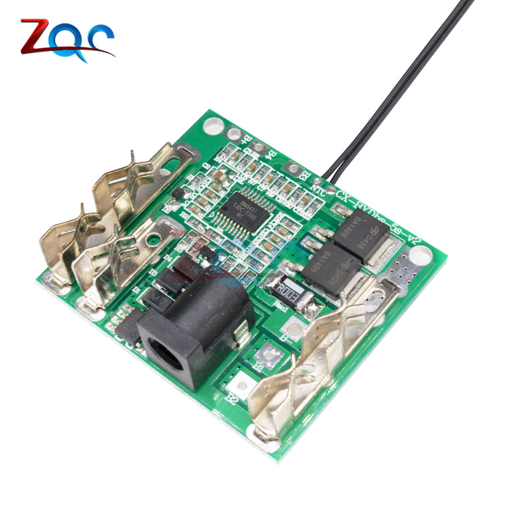 Battery Charging Protection Board 5S 18/21V 20A Li-Ion Lithium Battery Pack Protection Circuit Board BMS Module for Power Tools zpsa403r3 power supplies board mount mr li