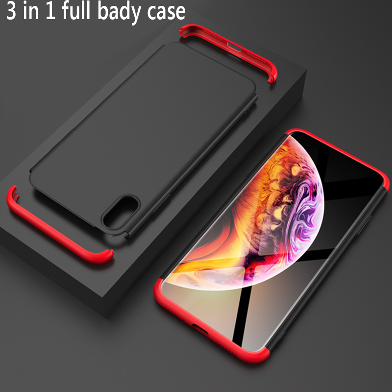 For iPhone 6 6s 7 8 Plus Case Fashion 360 Full Body Hard Hybrid Plastic Protect Back Cover For iPhone X XR XS MAX Coque Fondas in Fitted Cases from Cellphones Telecommunications