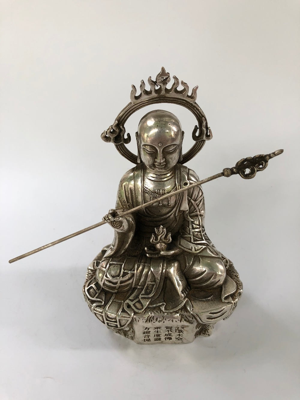 Copper flow silver Buddha ornaments collectibles
